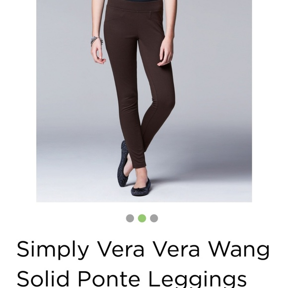 532ea8ce76a00 Simply Vera Vera Wang Other | Simply Vera Wang Solid Ponte Leggings ...